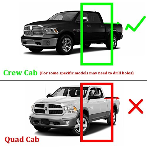 4 Inch Running Boards Side Step For Ram 1500 2500 3500: Super Drive For 2009-2018 Dodge Ram 1500 Crew Cab, 2010