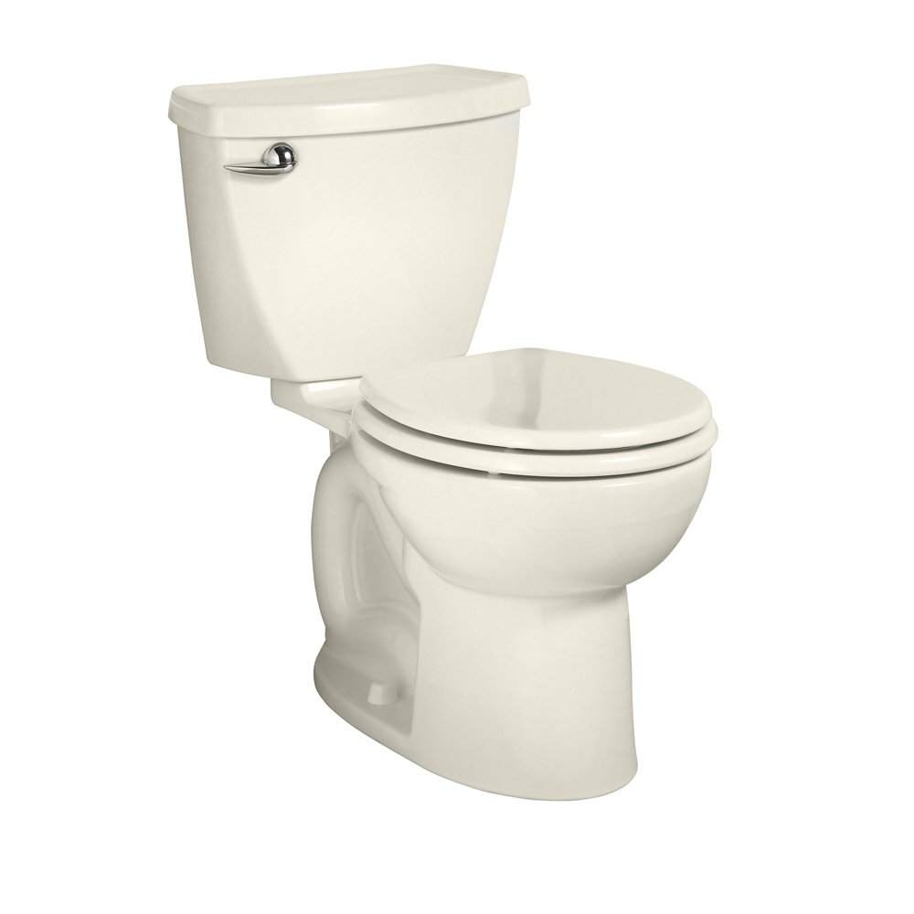American Standard Cadet 3 Right Height Round Front Flowise Two-Piece High Efficiency Toilet with 12-Inch Rough-In, Linen Linen