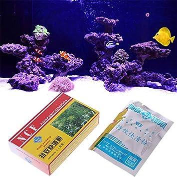 Agua de acuario - Purificador de acuario en polvo limpiador de ...