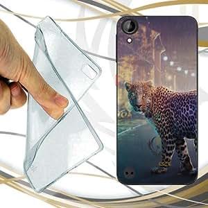 CUSTODIA COVER CASE NIGHT LEOPARD PER HTC DESIRE 530