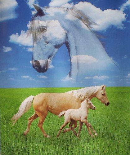Marcus Horses in the Meadow Super Soft Polar Fleece Throw...