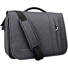 KROSER Briefcase Laptop Messenger Bag 15.6 inch Water-Repellent Light Weight Flapover Computer Case Business Shoulder Briefcase Laptop Bag with RFID Pockets for Business/College/Men/Women - DarkGrey
