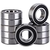 XiKe 10 Pack 6205-2RS Bearings 25x52x15mm, Stable Performance and Cost-Effective, Double Seal and Pre-Lubricated, Deep Groove Ball Bearings.