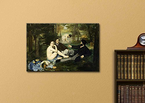 Luncheon on The Grass by Edouard Manet Stretched Framed 12 L X 18 W