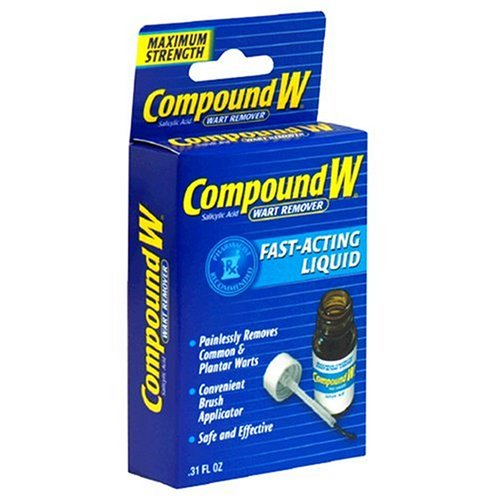 Compound W Wart Remover, Maximum Strength, Fast-Acting Liquid, 0.31-Ounce (Pack of 2) by Compound W