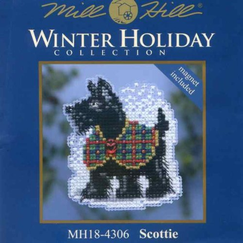 Snow Fun Mill Hill Beaded Counted Cross Stitch Kit MH184301