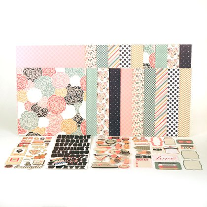 August Rosey Posey Paper Collection Kit Anthology by Lisa Bearnson by Anthology by Lisa Bearnson