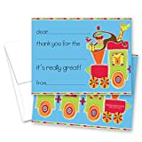 MyExpression.com 20 Choo Choo Train Safari Animals Children Fill-in Birthday Thank You Cards