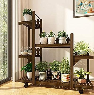 G-HJLXYZWJHOME Soporte para Plantas Soporte Multifuncional para Flores Maceta Estante De Almacenamiento Escaleras BalcóN JardíN Interior Patio Esquina Olla Soporte De ExhibicióN: Amazon.es: Hogar