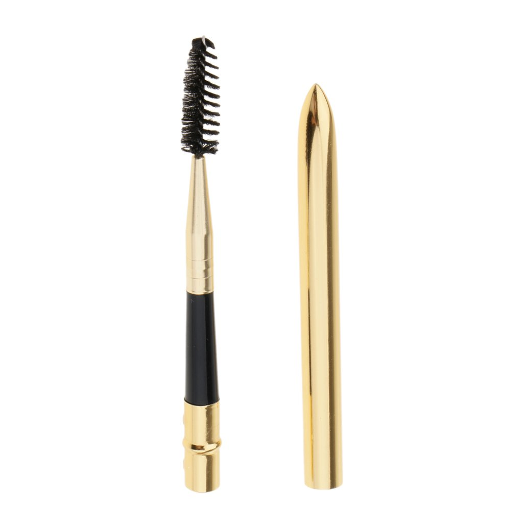D DOLITY Curl Eyelash Brush Mascara Wand, Wooden Handle Eye Lash Extension Eyebrow Eyeliner Makeup Tool, Reusable with Case