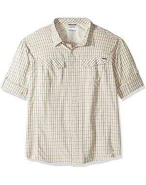 Men's Big-Tall Silver Ridge Plaid Long Sleeve Shirt, Valencia, 3X
