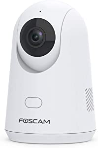 WiFi Camera Indoor,Foscam X2 1080P Home Security IP Camera,Baby Monitor with Audio, Human Detection, Motion/Sound Detection, Night Vision, Cloud Storage, Works with Alexa … …