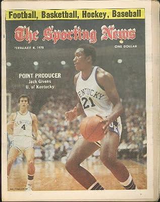 SPORTING NEWS Jack Givens University of Kentucky 2/4 1978