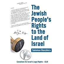 The Jewish People's Rights to the Land of Israel