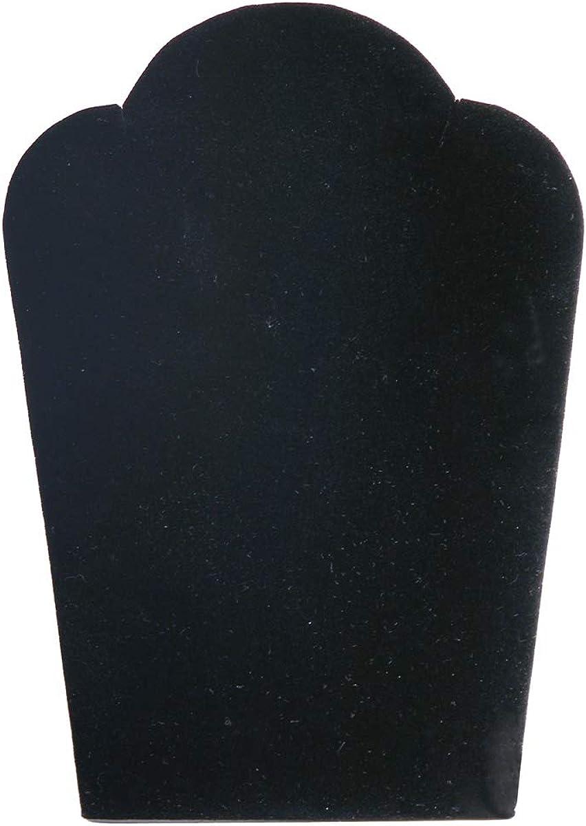 Pkg of 6 DCH1673 VELVET NECKLACE EASELS Padded 8-78W x 13-38 H