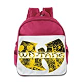 HYRONE Wu Logo Tang Clan Teenager School Bag Backpack For 1-6 Years Old Pink