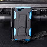 Sony Xperia Z1 Compact Case, Cocomii Robot Armor NEW [Heavy Duty] Premium Belt Clip Holster Kickstand Shockproof Hard Bumper Shell [Military Defender] Full Body Dual Layer Rugged Cover D5503 (Blue)