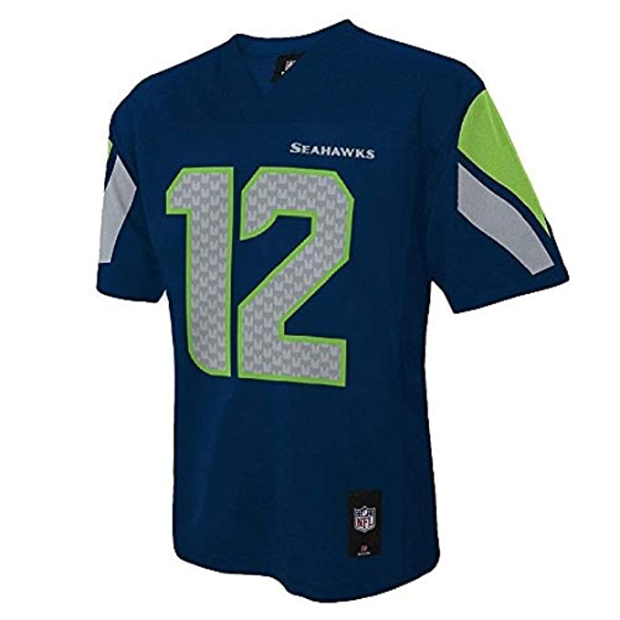 quality design 8d1d5 c40f4 Amazon.com: Outerstuff Seattle Seahawks Fan 12 Toddler Navy ...