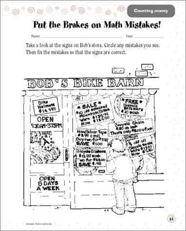 Counting Number worksheets math and money worksheets : Amazon.com: Scholastic Success With: Math Workbook: Grade 3 ...
