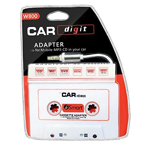 Car Cassette Adapter 3.5 mm Car Audio Cassette Adapter for Smart Phones, MP3, MP4, iPod, iPad, DVD Player, (Best Ipod Cassette Adapter)