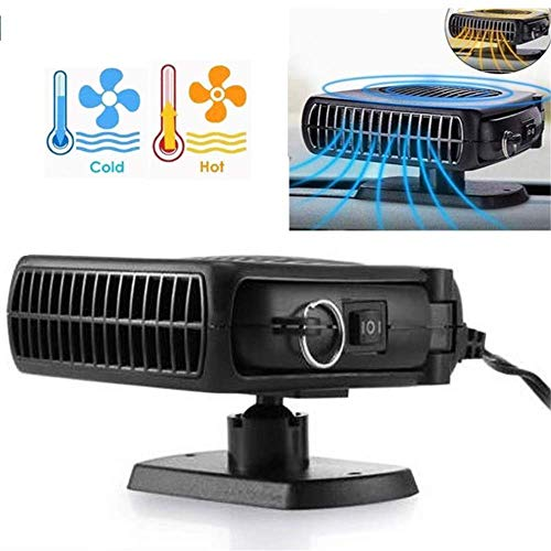 uhmhome Portable Car Heater Fan, Auto Ceramic Heater Quickly Defrost Defogger Demister Vehicle Heating Coolling Fan, 30 Seconds Fast Heating, DC 12V 150W, Plug into Cigarette Lighter