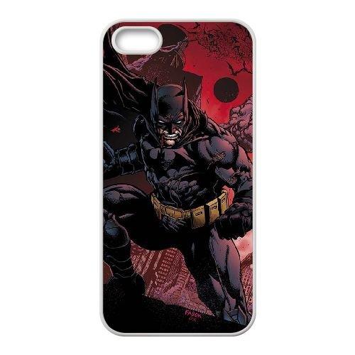 Batman coque iPhone 5 5S Housse Blanc téléphone portable couverture de cas coque EBDOBCKCO09917
