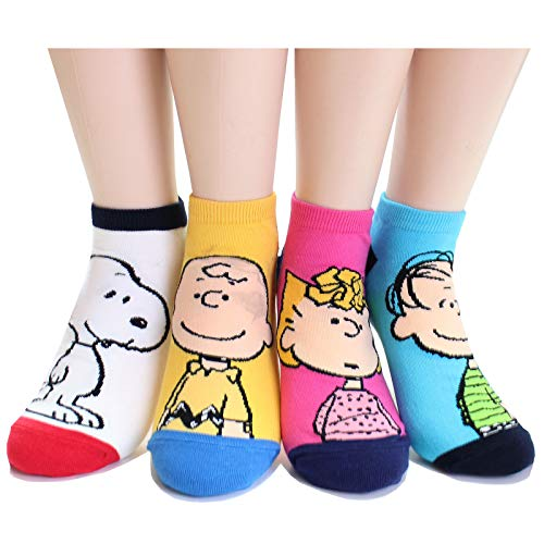 Sally Charlie Brown - EVEI The Peanuts Snoopy Cartoon Movie Series Women's Original Socks (snoopy12_4pairs)