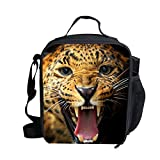 Mumeson Cute Animal Print Reusable Lunch Bag Insulated Lunch Tote Soft Bento Cooler Kit