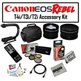 Deluxe Accessory Kit for Canon EOS Rebel T2i T3i T4i T5i 550D 600D 650D 700D Kiss X4 X5 X6 X6i X7i DSLR Digital Camera with Opteka Microfiber Deluxe Photo / Video Camera Gadget Bag, Opteka X-Grip Professional Camera / Camcorder Action Stabilizing Handle,