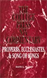 img - for Proverbs, Ecclesiastes & Song of songs (College Press NIV Commentary) (The College Press Niv Commentary. Old Testament Series) book / textbook / text book