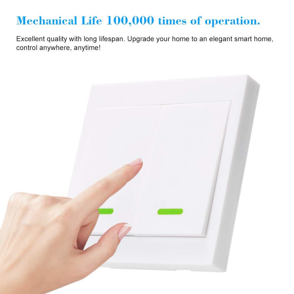 interruttore on//off trasmettitore con adesivi OWSOO Interruttore da parete con telecomando 86 tipi 2 marce telecomando radio senza fili pannello 433 MHz