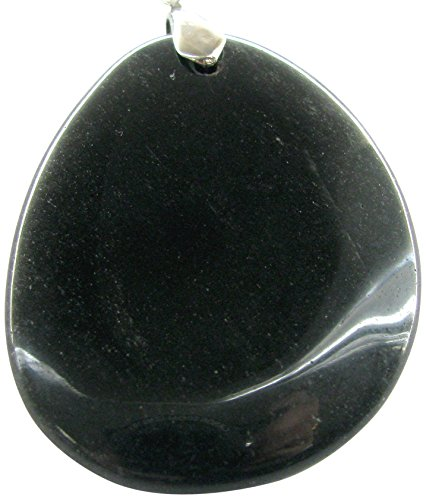 Linpeng SP-06 Obsidian Semiprecious Stone Pendant, Black (Obsidian Pendant)