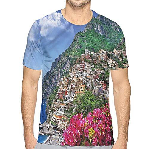 bybyhome t Shirt Italy,Positano Amalfi Naples Printed t Shirt S