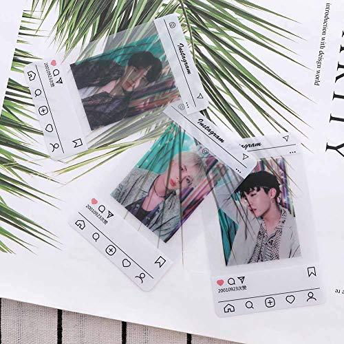 Youyouchard BTS Bangtan Boys Love Yourself 结Answer BTS Photocards Kpop BTS Transparent Cards TPU Bangtan Boys Suga Jimin Jungkook Photo (H16: (8PCS))