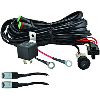 amazon com kc hilites 6308 110w wiring harness with 2 pin deutsch rh amazon com Ford Wiring Harness Kits Wiring Harness Terminals and Connectors