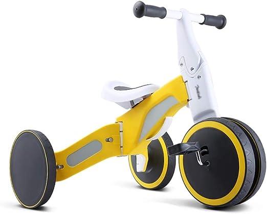 Bicicleta sin pedales YXX Niño del Asiento de la Bici del Balance Trike el 1-3 años, Primera Bicicleta, Regalo de cumpleaños, para la conducción Segura Juguetes (Color : Yellow-1): Amazon.es: Hogar