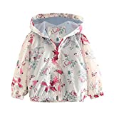 Mud Kingdom Little Girls Colorful Catoon Print Hooded Jacket Outerwear Foxes Size 6
