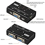 2 Port USB VGA KVM Switch with 2 Cables, Selector