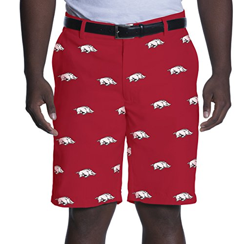 e Changer Shorts, Arkansas Razorbacks, 40, Red (Arkansas Games)