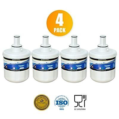 4-Pack Excelpure Refrigerator Water Filter Replacement Cartridge, Compatible with SAMSUNG DA2900003G, DA29-00003, DA29-00003A-B, DA61-00159, HAFCU1, HAFIN1, WSS-1, WF289, SGF-DSB30, Great Quality!