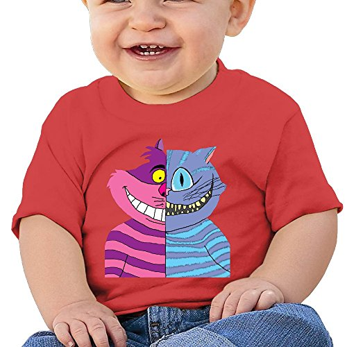 Price comparison product image Kim Lennon Cheshire Double-Faced Cat Custom Newborn Soft T-shirt Size Size Key Red