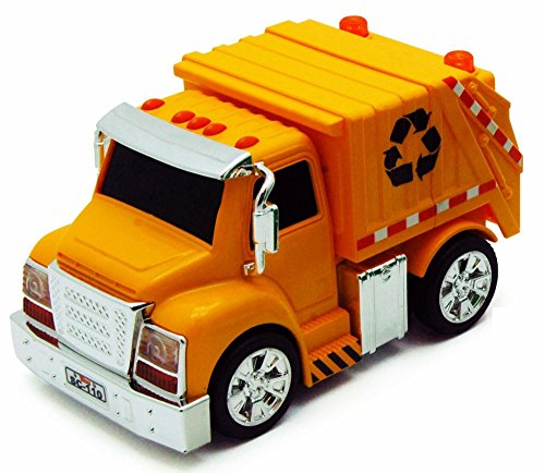 Garbage Truck, Yellow - Chubby Champs 88010 - Model Toy Car
