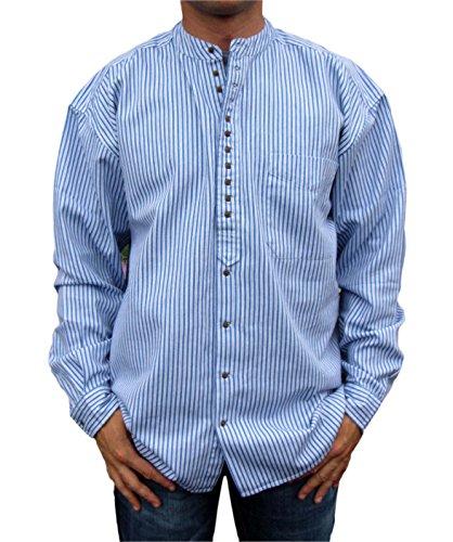 Stehkragenhemd - Irisches Stehkragenhemd - MM 1345 Blue/black
