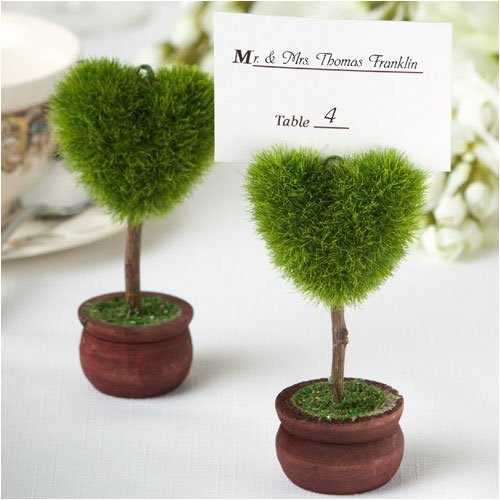 Unique Heart Design Topiary Place Card Holder (Set of (Topiary Card)
