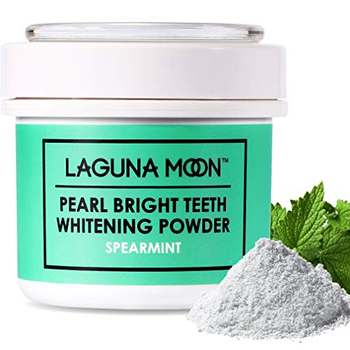 (Teeth Whitening Powder by Lagunamoon,Natural no Damage to Enamel or Gum Premier Alternative to Activated Charcoal Powder Easy Cleaning FDA Approved )