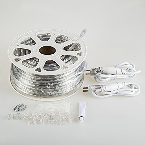 GuoTonG-50ft262ft-Plugin-Rope-Lights-540-Daylight-White-LEDs-110V-2-Wire-WaterproofConnectable-Power-Socket-Connector-Fuse-Holder-IndoorOutdoor-Use-Ideal-for-Backyards-Decorative-Lighting