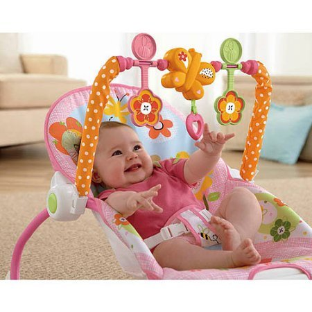 Fisher Price Infant Rocker - Fisher-Price Infant-to-Toddler Rocker Sleeper, Pink Bunny Pattern