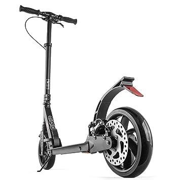 Patinete- Scooter Negro Plegable Pedal De 2 Ruedas De ...