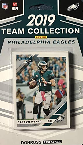 2019 Eagle - Philadelphia Eagles 2019 Donruss Factory Sealed 11 Card Team Set with Carson Wentz and 3 Rated Rookies Plus 7 Other Cards