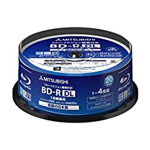 Verbatim Blu-ray Disc 20 pcs Spindle - 50GB 4X Speed BD-R DL - Inkjet Printable - Made in Japan